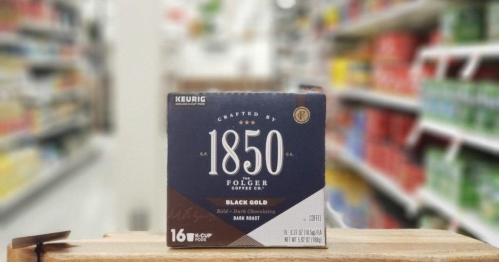 box of 1850 coffee kcups