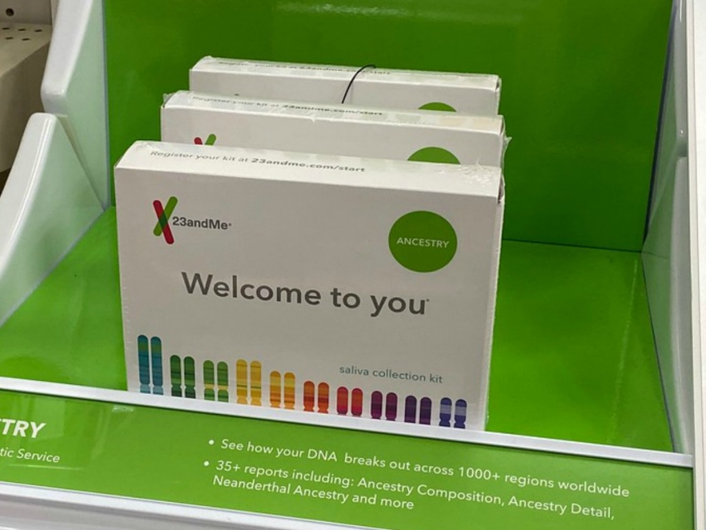 23andMe Ancestry DNA kit on display at Target