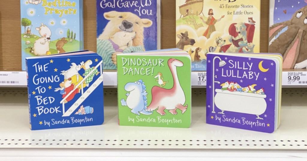 Kids board books on Target shelf