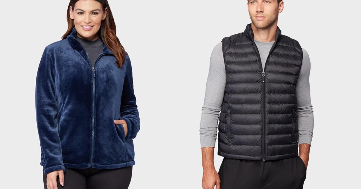 woman wearing jacket and man wearing puffer vest