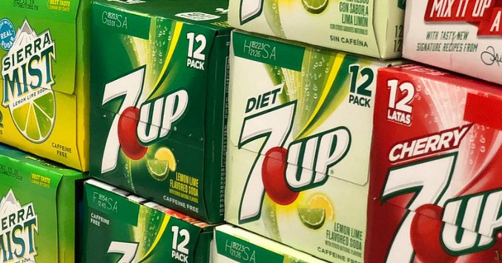 7up 12-pack soda cans