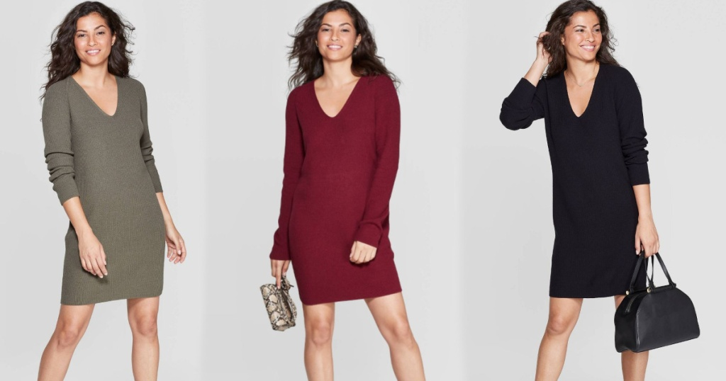 women-s-v-neck-long-sleeve-sweater-dress-a-new-day