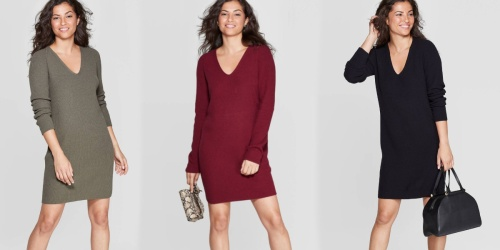 A New Day Women's Holiday Sweater Dress Only $20.99 Shipped (Regularly $30)