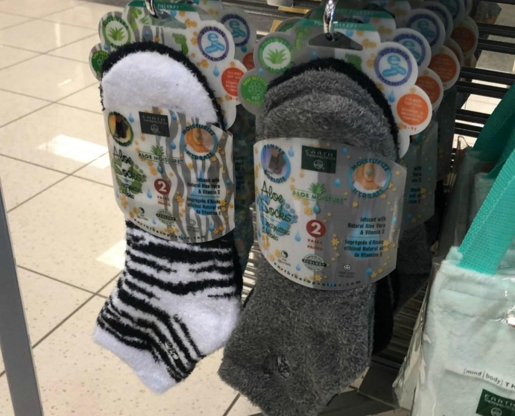 Aloe Socks on display at Kohl's