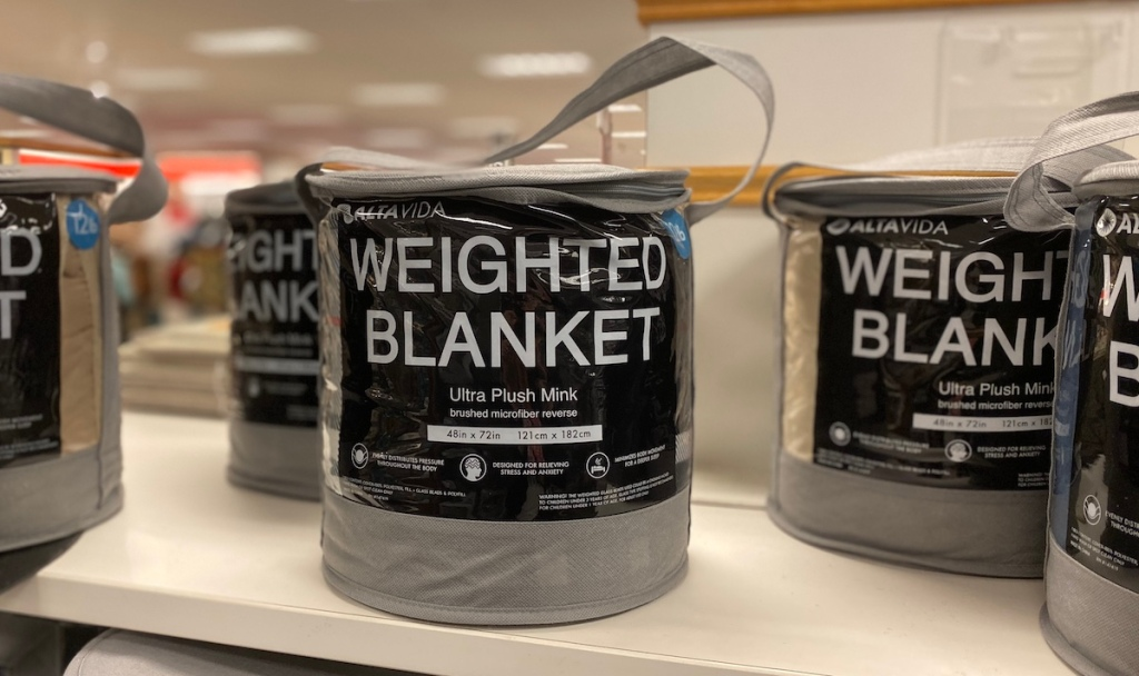 Altavida Weighted Blankets on shelf at Kohl's