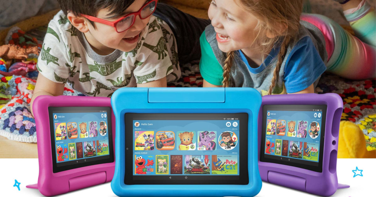 Kids with Amazon Fire Tablets
