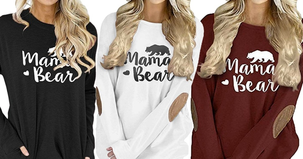Amazon Mama Bear Shirts in three colors