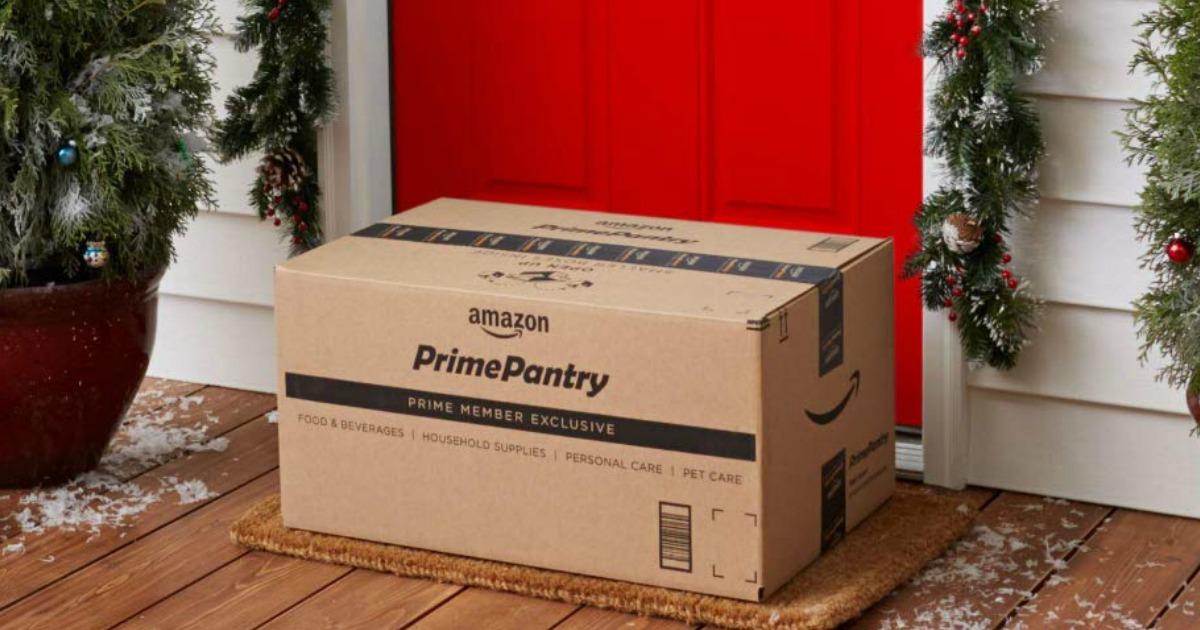 Amazon Prime Pantry Box on doorstep
