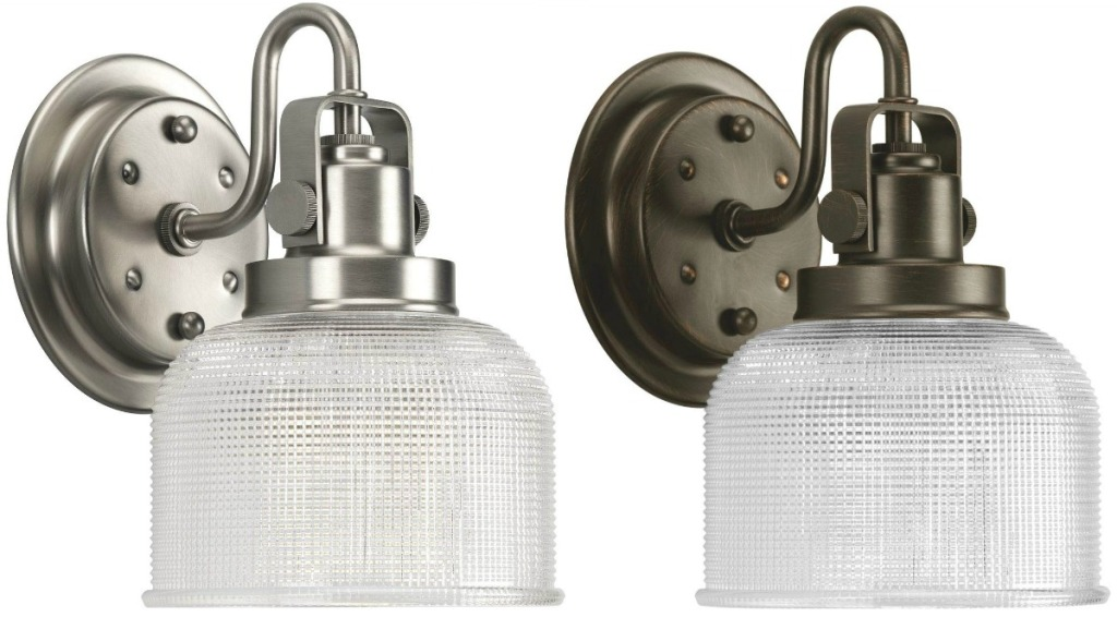 Two styles of wall lighting from Amazon