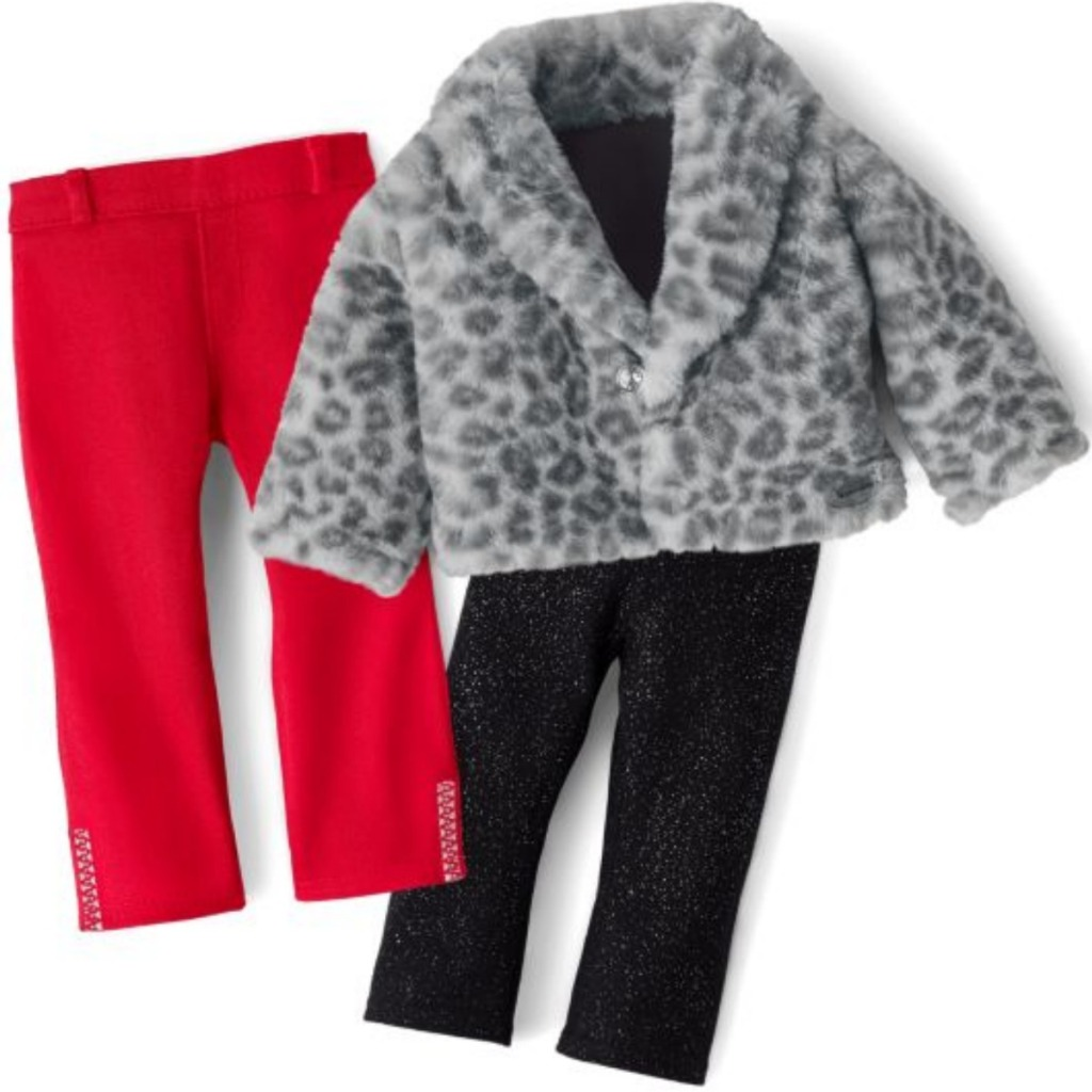 American Girl Lovely Leopard Coat & Luxe Leggings Outfit