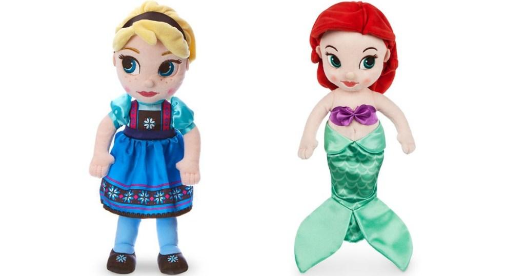Animators Collection Plush Anna and Ariel Dolls