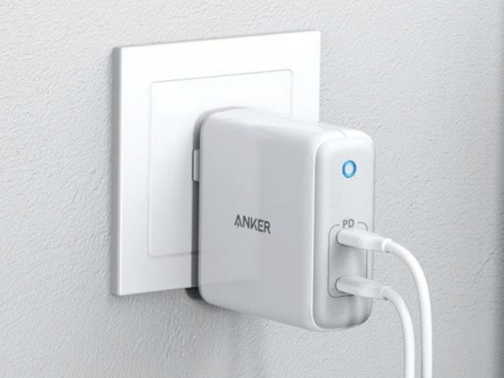 Anker PowerPort Plugged into wall