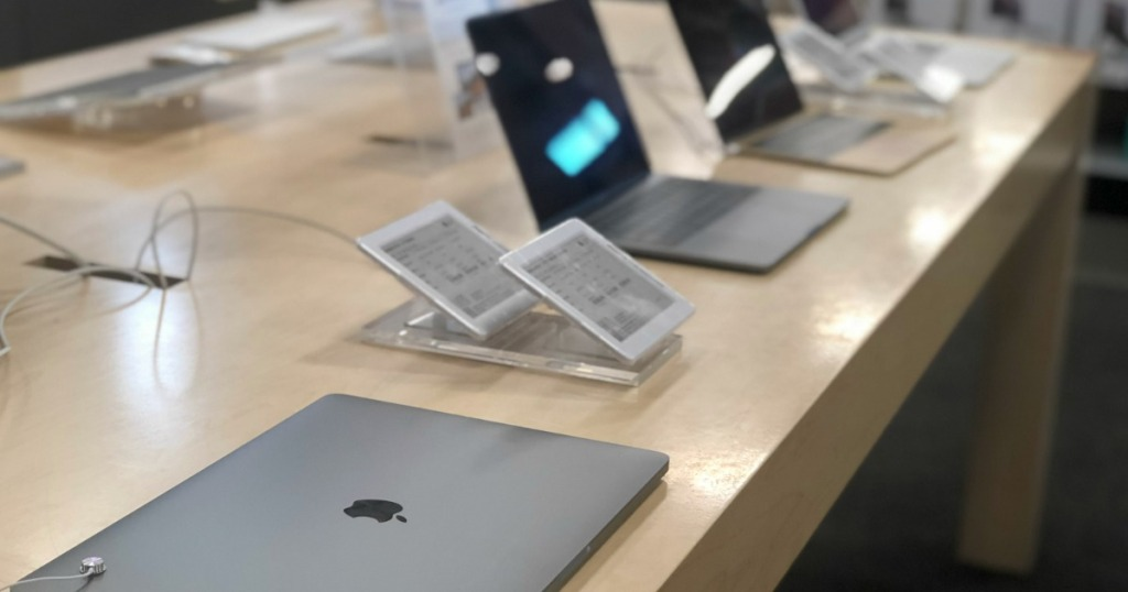 Apple Macbook on display in store