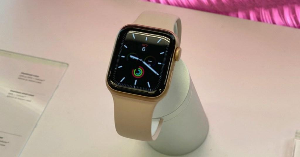 Apple Watch Series 5 on display in store
