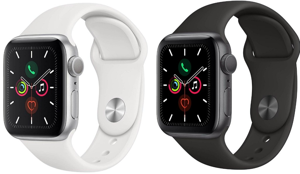 Apple Watch Series 5 in two colors - white and space gray