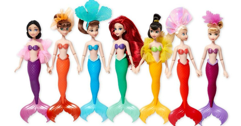The little mermaid and her sisters doll set