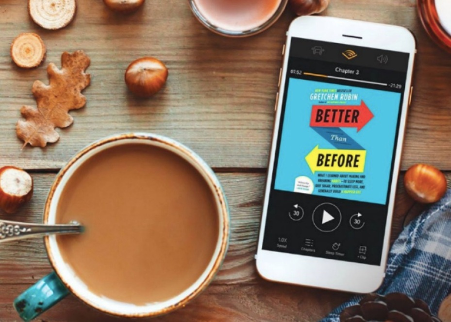 Better than Before Audiobook on phone