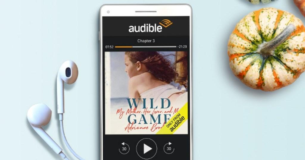 Audible app displayed on phone