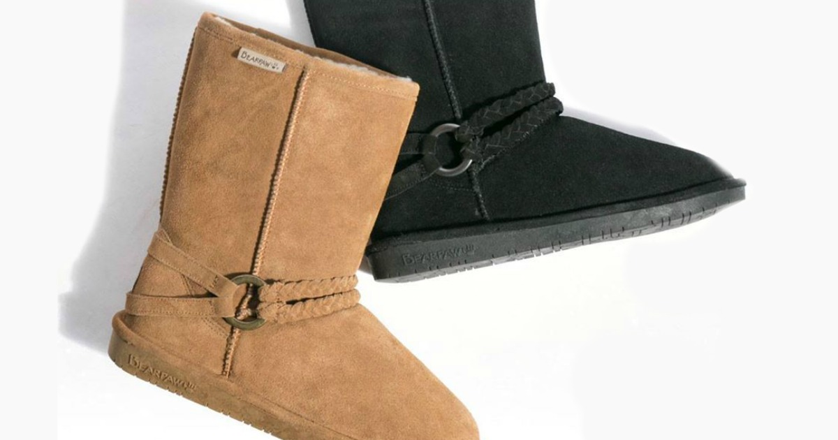 BEARPAW Women's Suede Boots Only $36.99