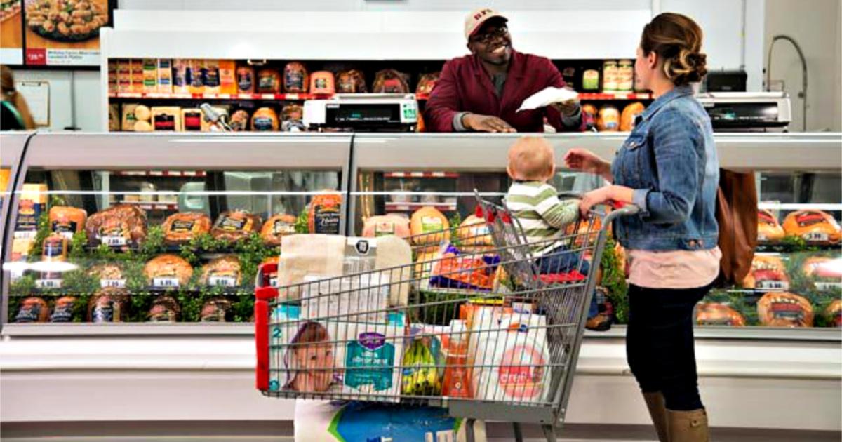 BJ's Shopping customer at deli counter