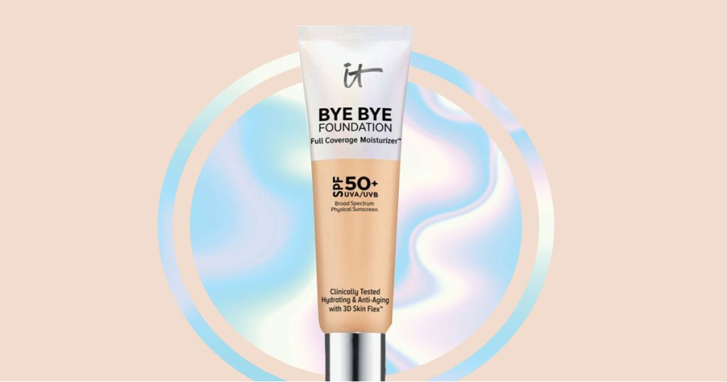 stock image of bye bye foundation at it cosmetics