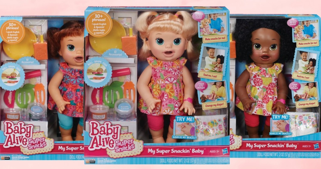 Baby Alive Super Snacking Dolls in three styles