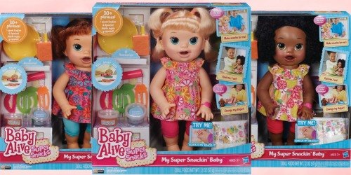 Baby Alive Super Snackin' Dolls as Low as $14.62 Shipped (Regularly $45)