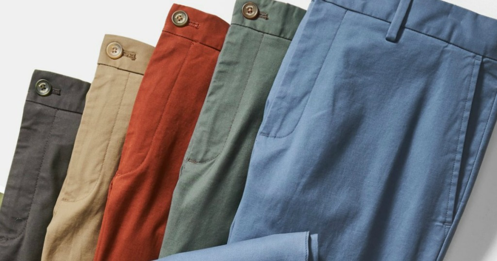 Banana Republic Men's Chino pants in a variety of colors