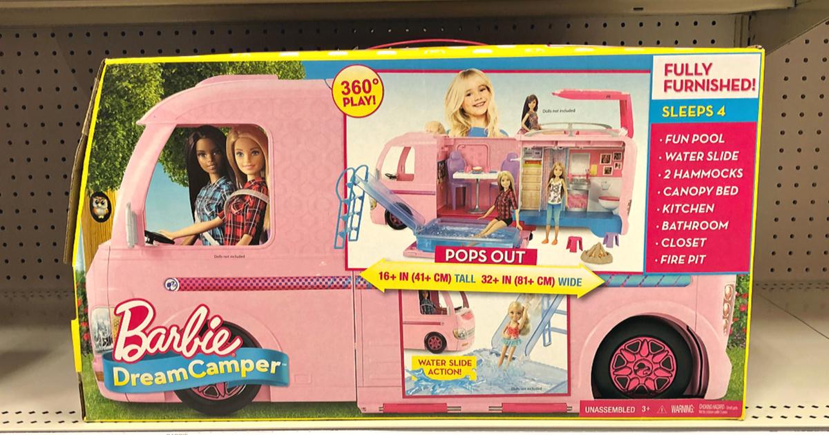 barbie dream camper in box on shelf