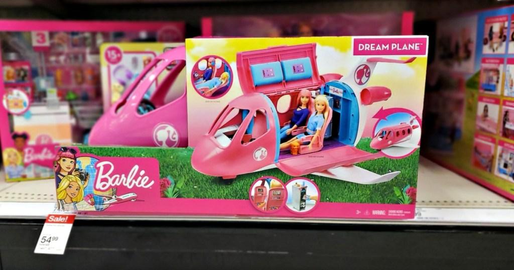 Barbie Dream Plane on Target shelf