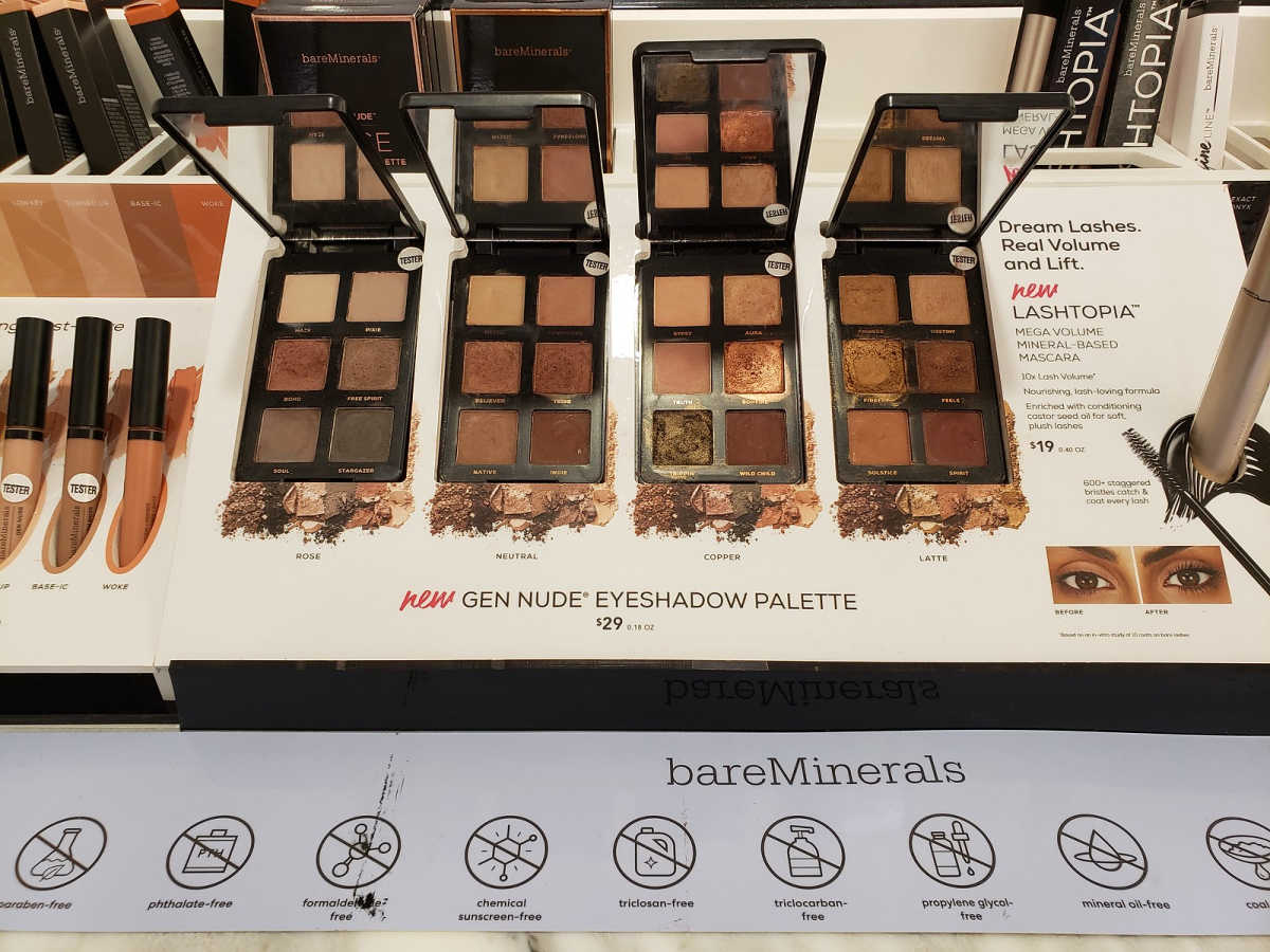 BareMinerals Eye Shadows, Eye Liners, and Concealer