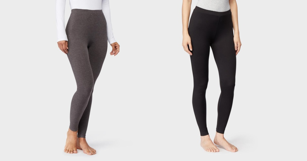 two pairs of womens baselayer leggings
