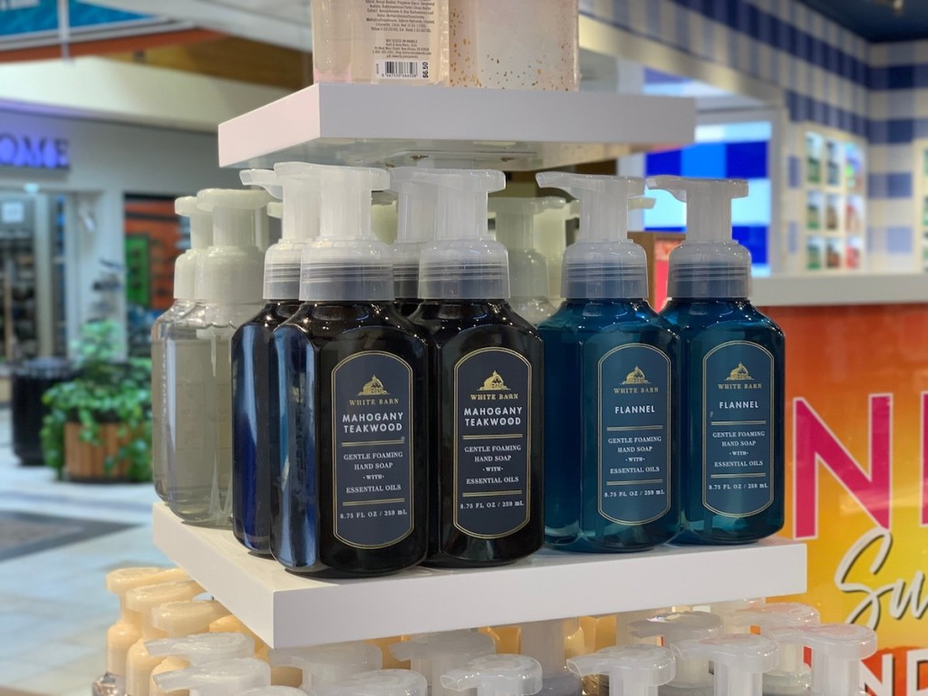 Bath & Body Works Hand Soaps on display