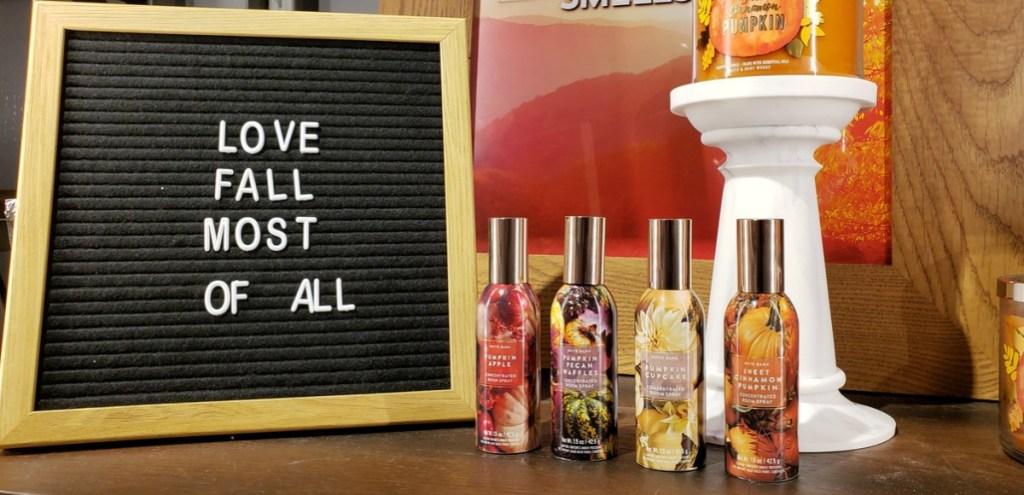Bath & Body Works room sprays in-store