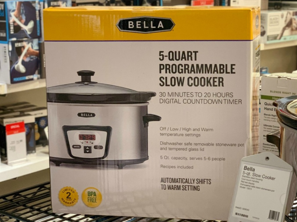 Bella Slow Cooker on display in package at store