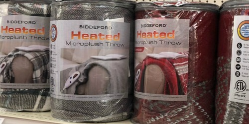 Biddeford Plush Heated Electric Throw Only $19.96 at Walmart