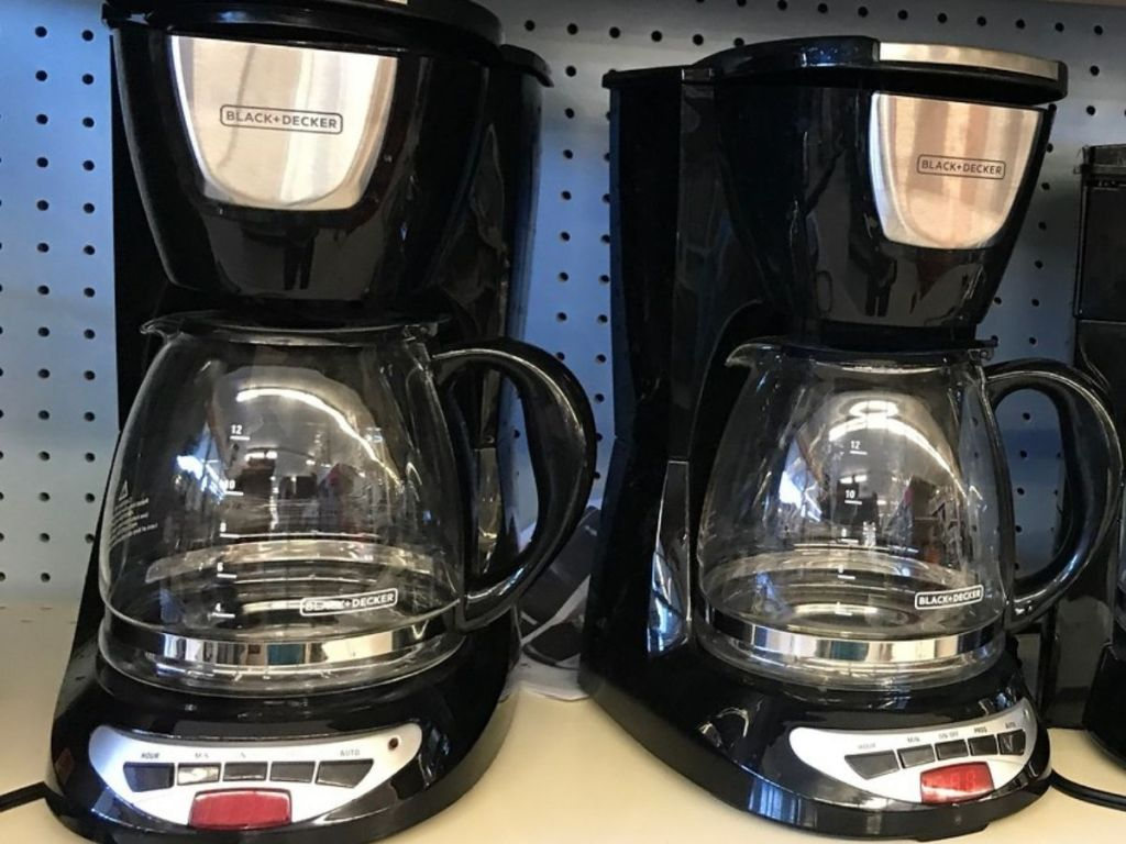 Two Black + Decker Coffee Makers