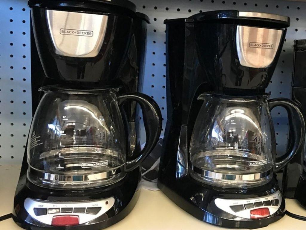 Two Black + Decker Coffee Makers