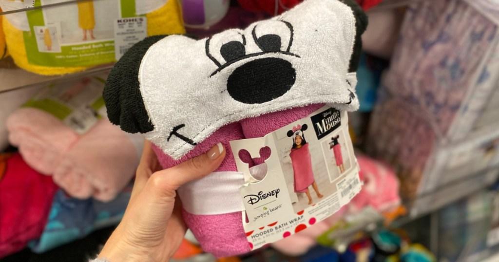 Kids Minnie Mouse Bath Wrap at Kohl's