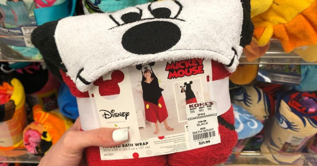 Kids Mickey Mouse Bath Wrap at Kohl's
