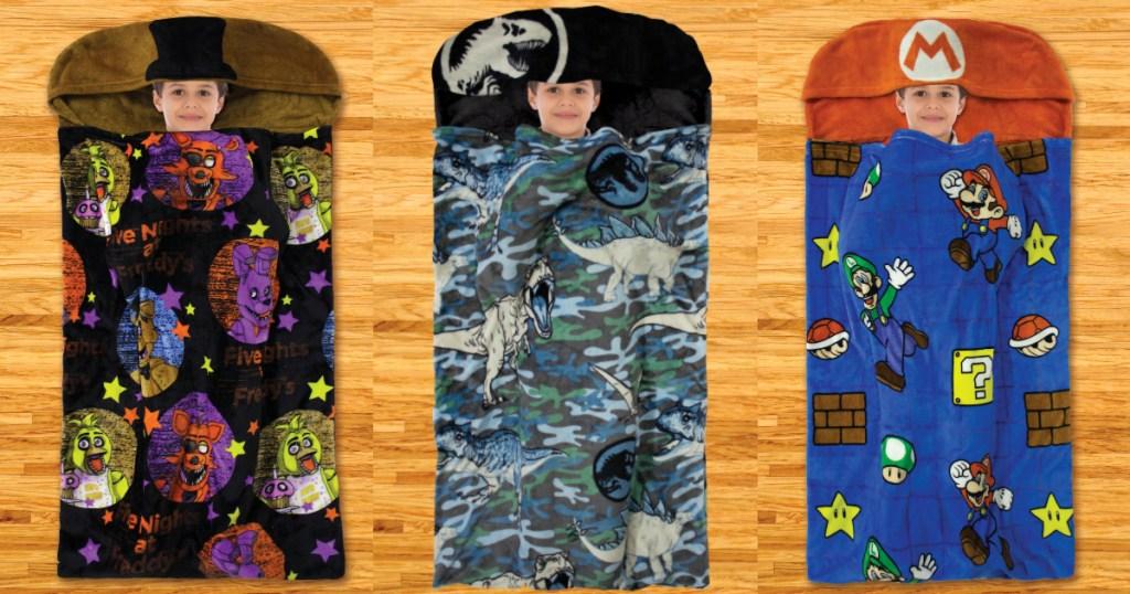Kids Step-in fleece blankets