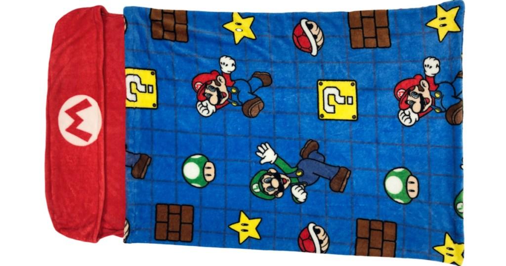 Super Mario Step-In Fleece Blanket
