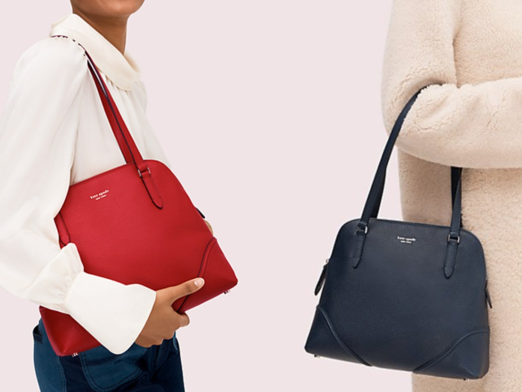 Woman holding Kate Spade Bag