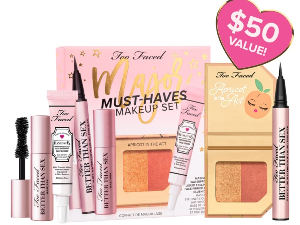 Too Faced Major Must Haves cosmetic kit