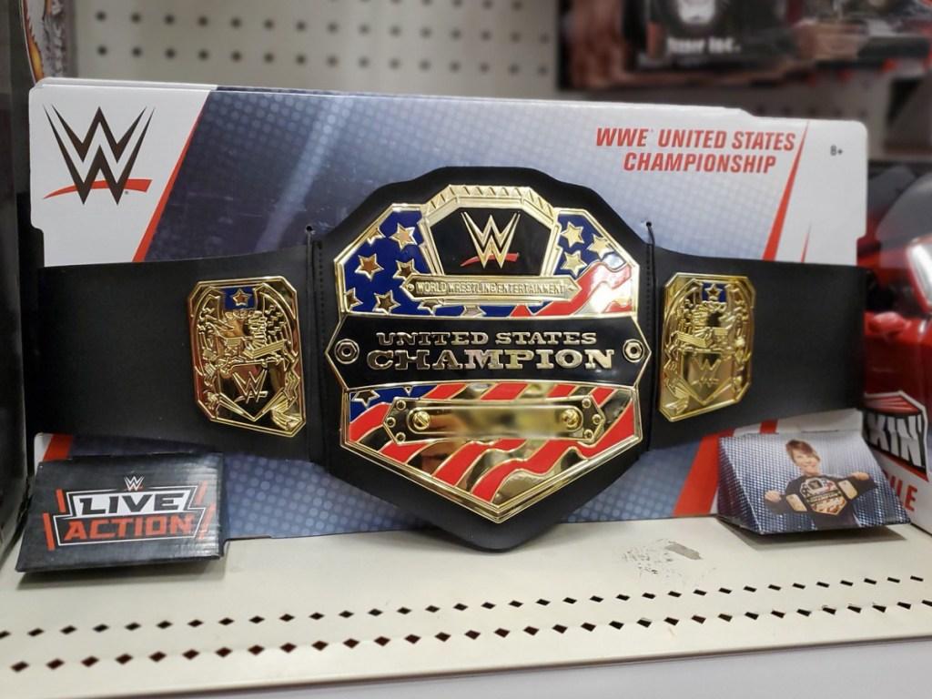 WWE World Championship belt on Target shelf
