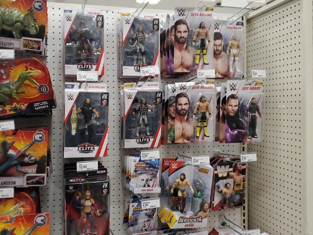WWE Action Figures on Target Display