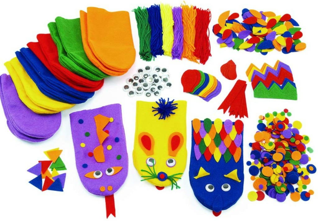 Colorations Felt Imaginary Hand Puppet Craft Kit for Kids