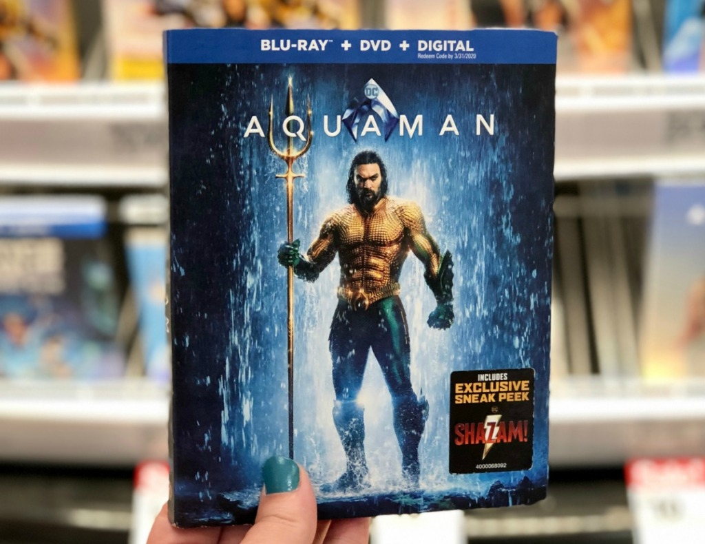 Aquaman BluRay Movie in hand in store