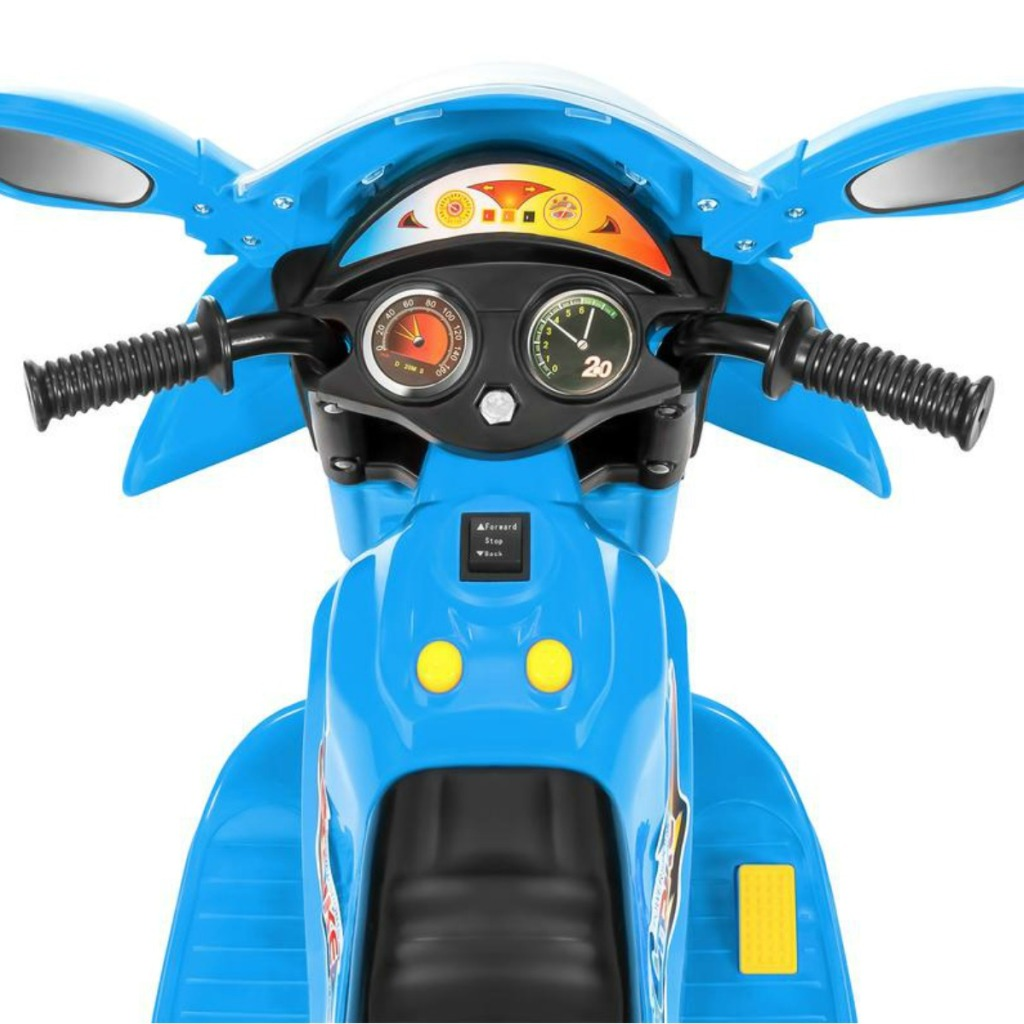 Kids blue ride-on motorcycle