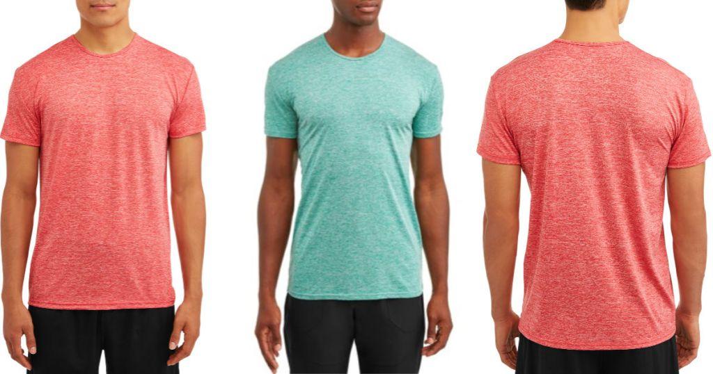 Blue Star Clothing Company Men's Performance Heathered Short Sleeve Crew Neck T-Shirt 2-Pack (1)